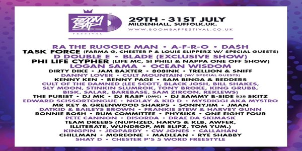 Boom Bap Festival Announces First Wave of Acts for 2016
